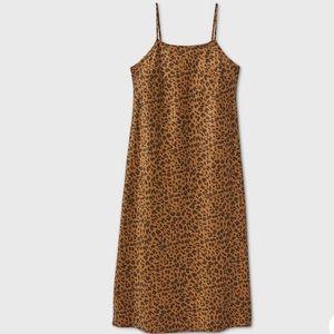 Leopard Print Slip Dress